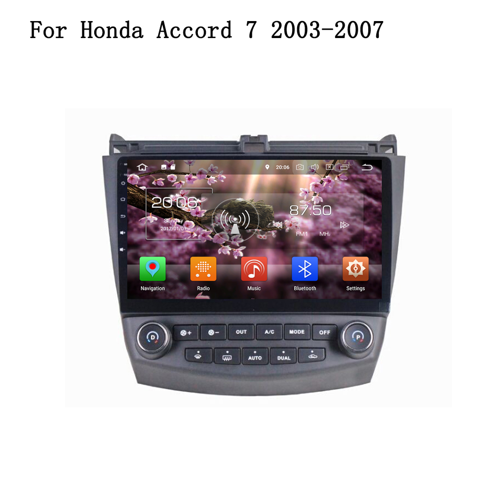 10.1 Inch Android 8.0 RAM 4G ROM 32G 8-Core Car Multimedia Player Radio Wifi BT GPS Navi Head Unit For Honda ACCORD 7 2003-2007 ownice c500 4g sim lte octa 8 core android 6 0 for kia ceed 2013 2015 car dvd player gps navi radio wifi 4g bt 2gb ram 32g rom