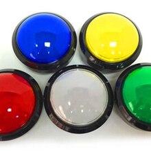 Выпуклые 100 мм кнопки большой освещенный ключи части развлечений аксессуары для видеоигр кнопочные переключатели с микропереключателем светодиодный свет
