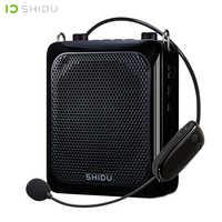 SHIDU 25W Ultra Tragbare Mini Audio Bluetooth Lautsprecher USB Stimme Verstärker Mit UHF Wireless Mikrofon Für Lehrer Tourist S28