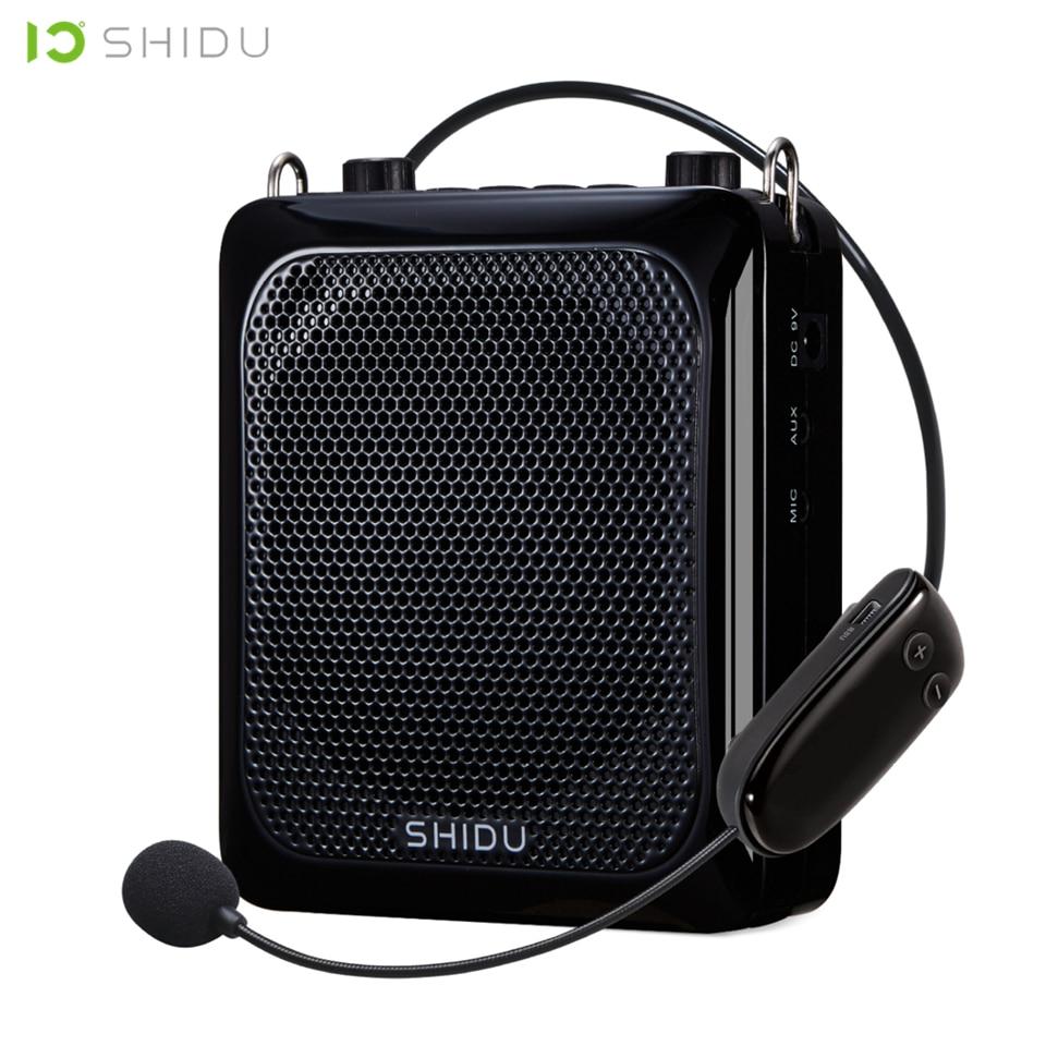 SHIDU 25W Ultra Portable Mini Audio Bluetooth Speaker USB Voice Amplifier With UHF Wireless Microphone For