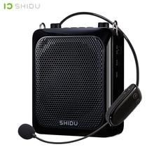 SHIDU 25 Вт ультра Портативный мини аудио Bluetooth Динамик USB усилитель голоса с UHF Беспроводной микрофон для учителей туристический S28