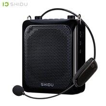 SHIDU 25W Ultra Portatile Mini Altoparlante Bluetooth Audio di Registrazione UHF Microfono Senza Fili Amplificatore di Voce Per Gli Insegnanti Turistico S28
