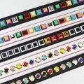 Botom Nueva Llegada de La Manera Colorida Remache Cinturones Correa de Accesorios Del Bolso de Las Mujeres Bolsa de Bolsas de Hombro Piezas de Cuero de La Pu Le Bolsa de Correas