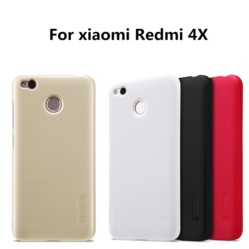 NILLKIN Super Frosted phone case for Xiaomi Redmi 4X Shield Hard Back Cover Case+Free Screen Protector Phone Bag Case for xiaomi
