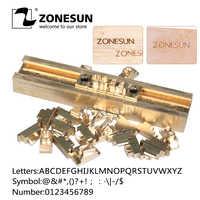 ZONESUN Т-образная латунная форма с буквами и надписями Горячая фольга штамп медный Алфавит пресс-набор заказной шрифт DIY, персонаж-форма