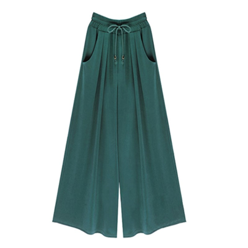 2019 Summer Plus Size 4Xl 5Xl 6Xl Women Casual Loose   Pants     Wide     Leg   Palazzo Culottes Stretch Trouser