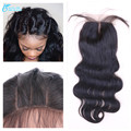 8A Brazilian Body Wave Cheap Silk Base Closure, Human Hair Silk Top Lace Closure, Middle/Free/3 Part Silk Base Lace Closure