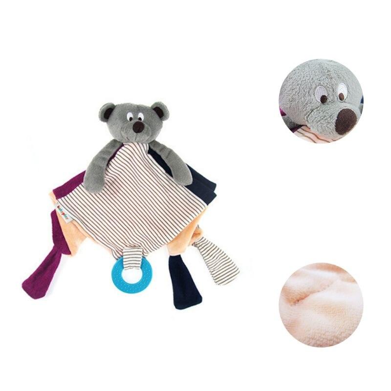 Baby Pacifier Appease Soothe Towel Cute Cartoon Bear Soft Plush Nursing Stuffed Doll Infant Teether Rattles Handshake Bell Bibs & Burp Cloths Mother & Kids