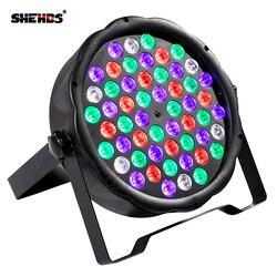 Diodo emissor de luz par rgbw 54x3 w equipamento de luz de lavagem de discoteca 8 canais dmx 512 led uplights efeito de iluminação de palco luz transporte rápido