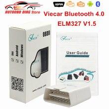 Melhor elm327 v1.5 viecar 4.0 bluetooth para ios/android obd2 scanner de diagnóstico ferramenta elm 327 viecar v4.0 leitor de código obdii