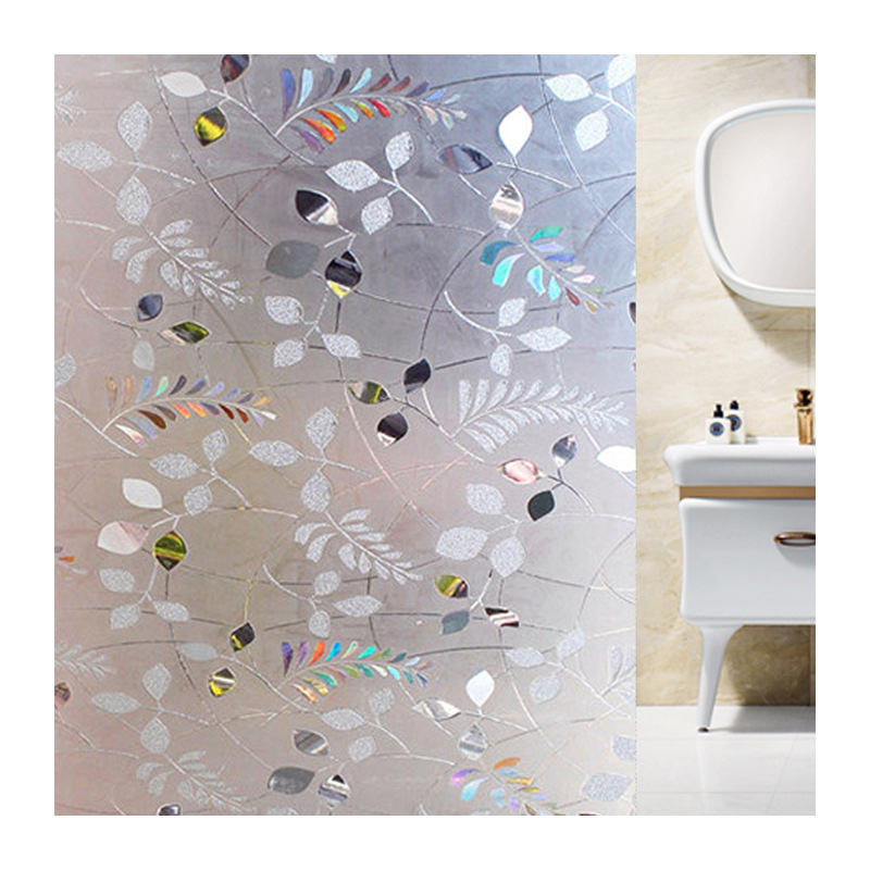 Static glass stickers 3d window film frosted glass stickers sunscreen insulation film decorative film color window stickers in Decorative Films from Home Garden