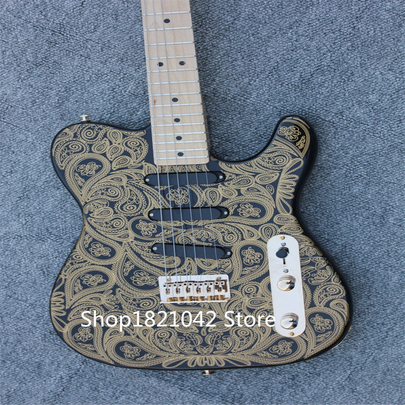 China electric guitar wholesale. gold accessory lace top electric guitar free shipping