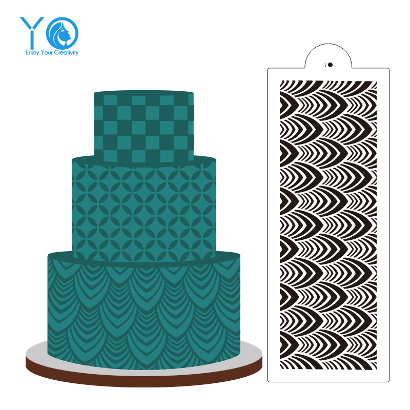 Wedding cake decoration cake stencil fondant molds large for Art deco cake decoration