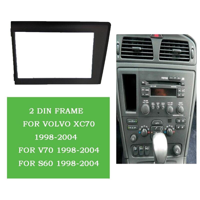 ITYAGUY 2Din Autoradio Fascia pour 1998 1999 2000 2001 2002-2004 Volvo XC70 V70 S60 Stéréo Plaque Garniture Kit Cadre Panneau Dash CD