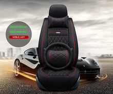 Delantera + Trasera fundas de asiento de coche de Cuero Especial Para Suzuki Swift SX4 Jimny Grand Vitara Kizashi Wagon Paleta accesorios del coche styling