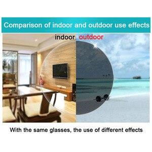 Image 4 - Intelligent Photochromic Bifocal Reading Glasses magnifier Unisex Reader Sunglasses Look Near Far Rice Nail Presbyopic Gafas D5