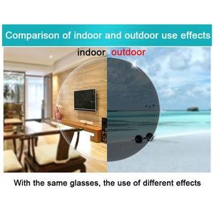 Image 4 - אינטליגנטי Photochromic דו מוקדי משקפי קריאת זכוכית מגדלת יוניסקס קורא משקפי שמש מראה ליד רחוק אורז נייל Presbyopic Gafas D5
