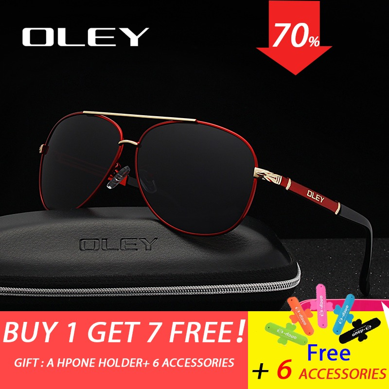 22f1b2a37 OLEY العلامة التجارية النظارات الشمسية الرجال الاستقطاب الأزياء الكلاسيكية  الطيار النظارات الصيد القيادة نظارات ظلال للرجال