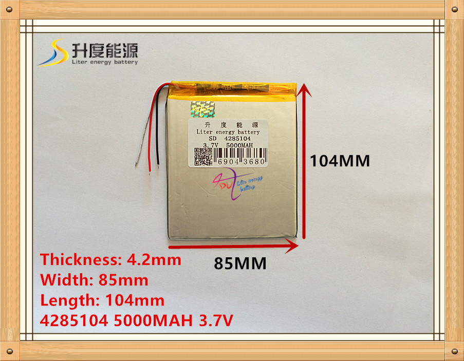 3.7V 5000mAh 4285104 3 wire Lithium Tablet PC Battery with protection board Polymer battery taipower onda 8 inch 9 inch tablet pc battery 3 7v 6000mah 3 wire 2 wire lithium battery