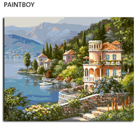 Europe Style Frameless Picture Painting By Numbers DIY Digital Canvas Oil Painting Home Decor For Living