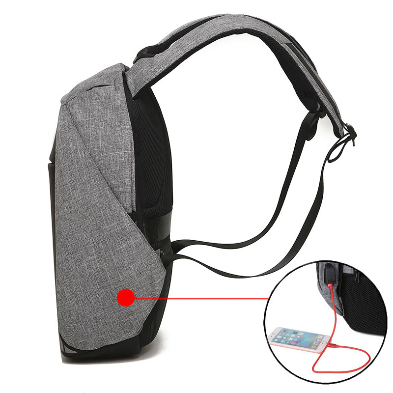 Men USB Charging 15.6 inch Laptop Backpacks For Teenager Fashion Male Mochila Leisure Waterproof Anti Theft Travel rucksacks