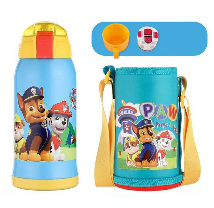 Genuine Paw Patrol PC0130 Double lid thermos cup for children 316 stainless steel 550ML Thermos Funtainer kids Birthday toy gift Термос
