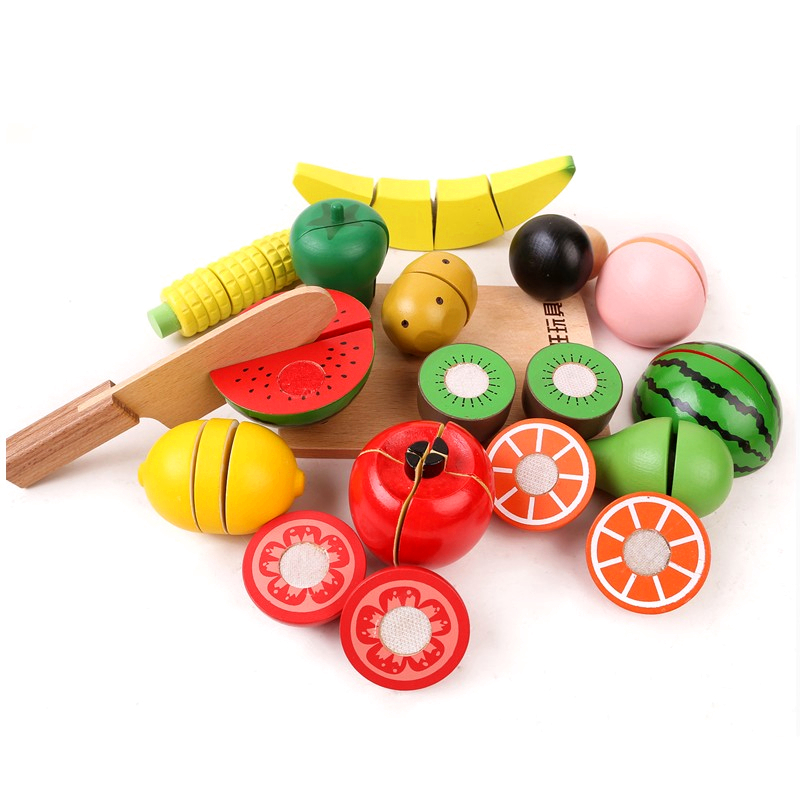 Toy Food For Toddlers : Kitchen food toys fruit fish vegetable blocks children