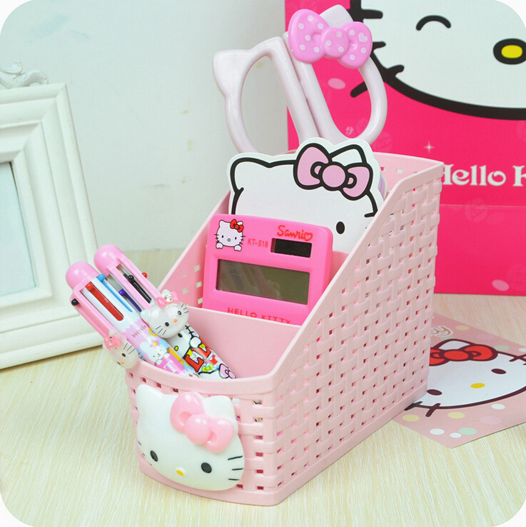 O Kitty Desktop Storage Box Multipurpose Basket Makeup Organizer Office Home Free Shipping In Bo Bins From Garden On