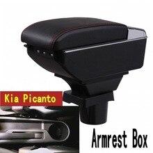 Для kia picanto подлокотник коробка центральный магазин содержание коробка с подстаканником пепельница с интерфейсом USB
