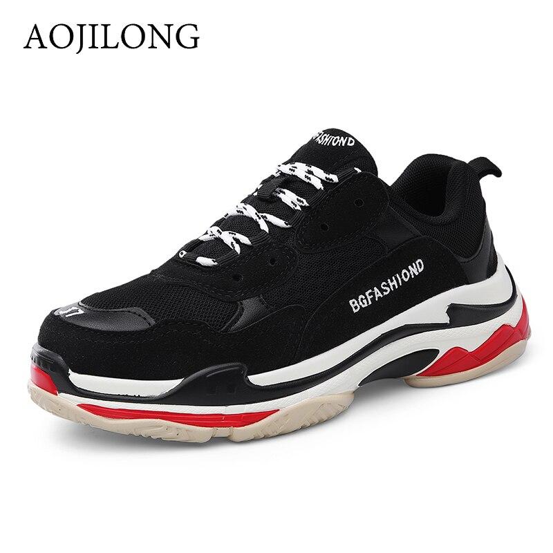 AOJILONG Sneakers Women 2018 New Men Running Shoes Design Breathable Sport Shoes Outdoor Men Basketball zapatos de hombre