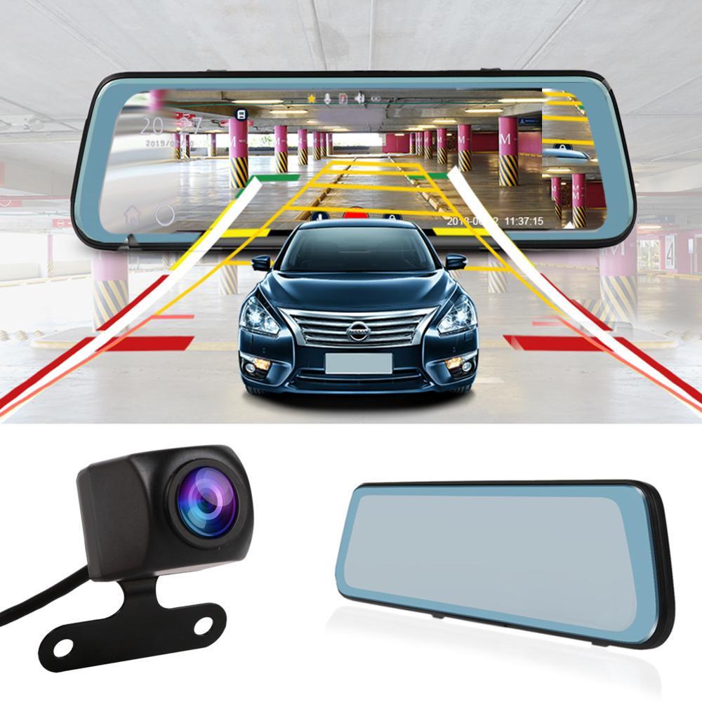 Car DVR Dash-Cam ADAS Android-Stream Camera Video-Recorder Rear-View-Mirror Wifi Registrar