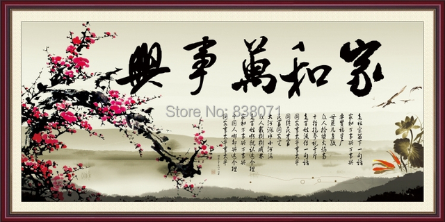 Oil Painting On Canvas ,chinese Wall Art,chinese Calligraphy,traditional  Chinese Oil Painting