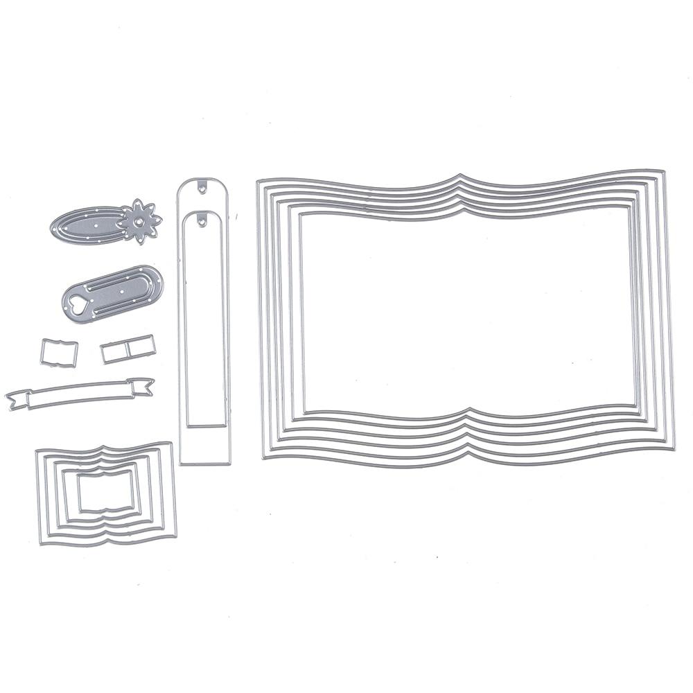 150*108mm scrapbooking DIY libro marcadores forma del marco Metal ...