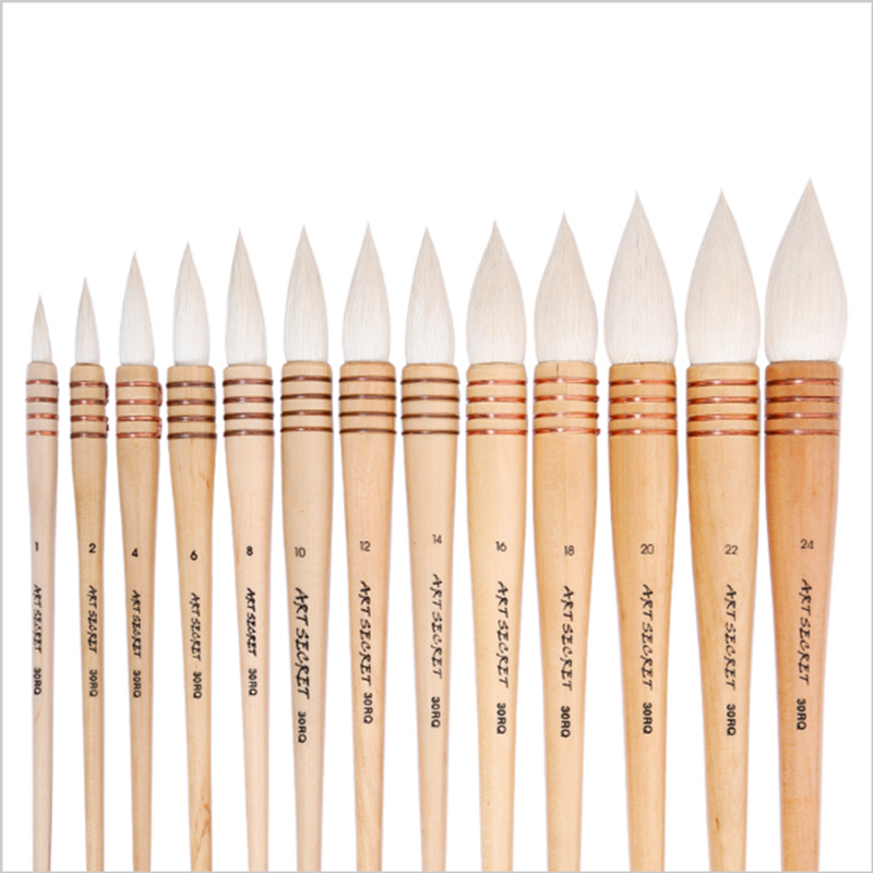 Very excellent quality goat hair wooden handle watercolor painting drawing art suppliesartist paint brush pen mymei 1pcs paint drawing gloves dirt repellent two finger artist supplies