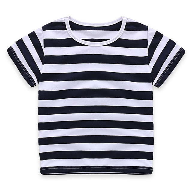 New Baby Girls T Shirt Kids Short Sleeve T shirt Boy' Striped T-shirt Blouse t shirts Clothing Summer Girls T-shirts Casual Tees