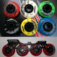 Inline Skates Base With 3X110mm 4X80mm 243mm Skating Frame And 84A Durable PU Wheel For SEBA