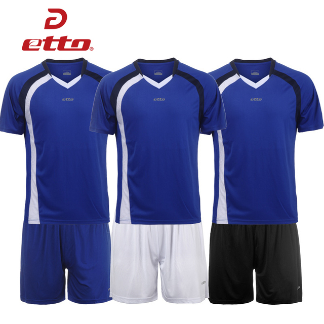 2b26085e2 Etto High Quality Men Soccer Jersey   Shorts Sets Team Uniforms Male  Breathable Quick Dry Football Training Suits S~4XL HUC050