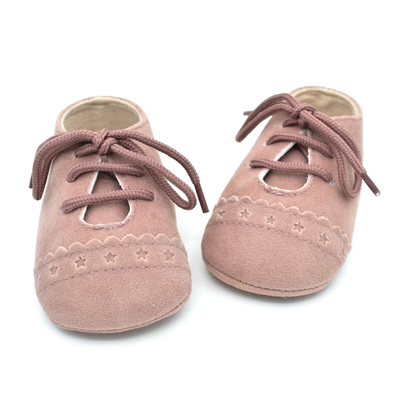 Infant Baby Girls Boys Spring Lace Up Soft Leather Shoes Toddler Sneaker Non-slip Shoes Casual Prewalker Baby Shoes 22