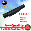 4cells laptop battery A41-K53 for Asus A43 A53 K43 K53 X43 A43B A53B K43B K53B X43B  A54LY A83 A83B A83B A83BR A83BY A83E A83S