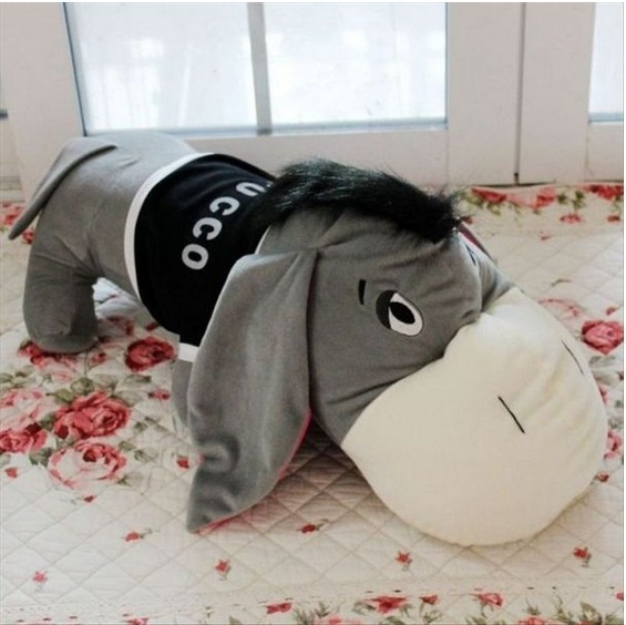 Donkey giant stuffed animals pillow cushions plush toys The best gift for kids free shipping 60cm the horde wow bolsters cushions tribes plush toys pillow