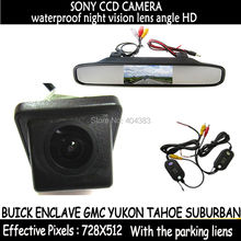 car Parking 2.4G wireless rear view camera SONY camera+ 4.3″ LCD Car Rearview Monitor for BUICK ENCLAVE GMC YUKON TAHOE SUBURBAN