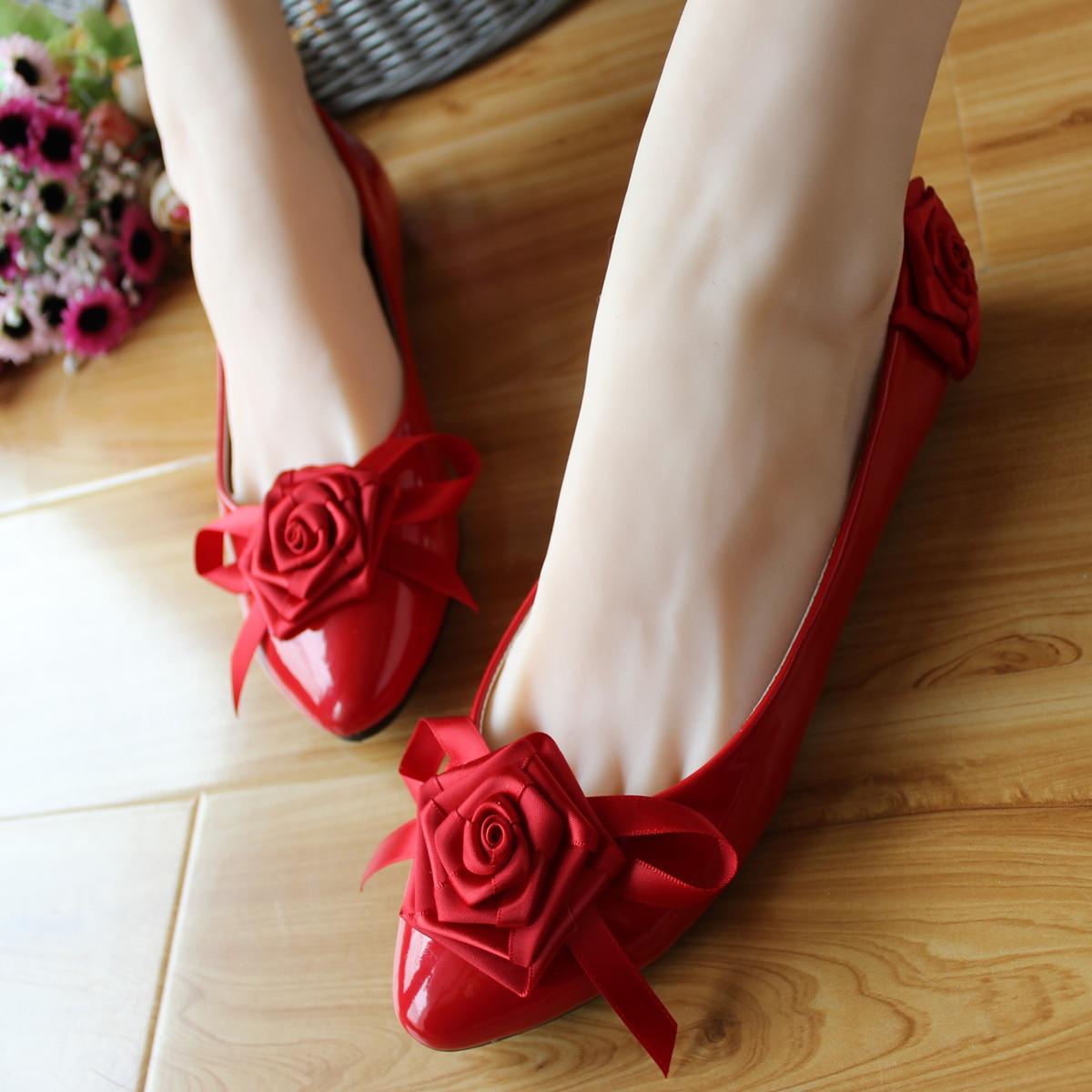 Popular White Handmade Flat Wedding Shoes Buy Cheap White Handmade