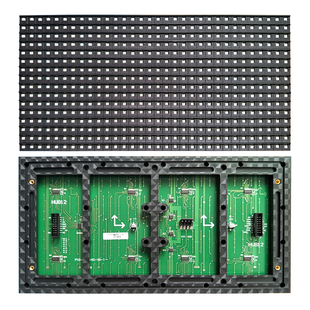 Image 2 - 320 x 160mm Semi outdoor white color P10 LED display panel,Single color indoor SMD P10 LED display module-in LED Displays from Electronic Components & Supplies