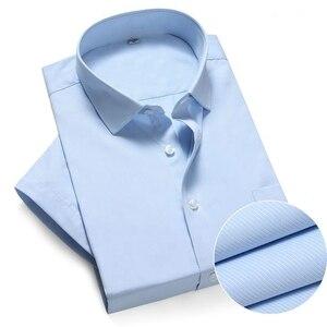 Image 4 - حجم كبير 10XL 11XL 12XL 13XL 14XL مكتب الأعمال الراحة الصيف الرجال فستان قصير الأكمام التلبيب قميص أبيض 8XL 9XL