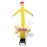 High quality 3 meters to 7m custom logo moving advertising dancing man inflatable sky tube air dancer