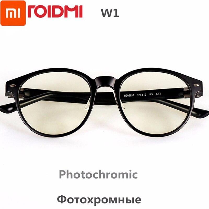 Nouveau Xiaomi ROIDMI W1 Anti-rayons bleus protection photochromique verre oreille-voix amovible protecteur des yeux bon yeux verre