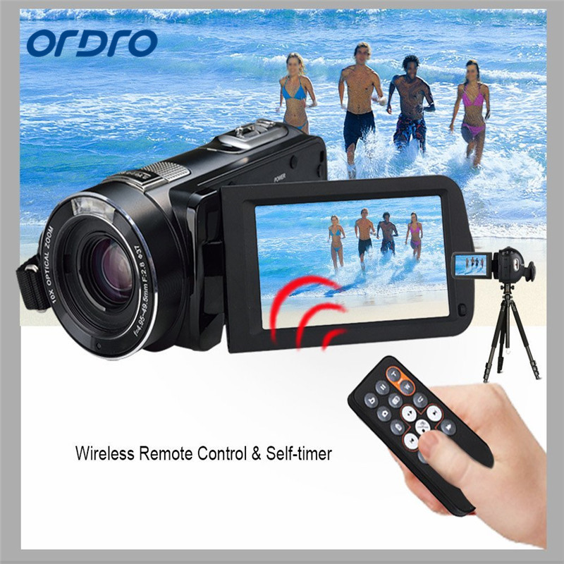 ORDRO Portable Digital Video Camcorder HD Max 24 0MP 1080P Camera DV with 1200X Superzoom and