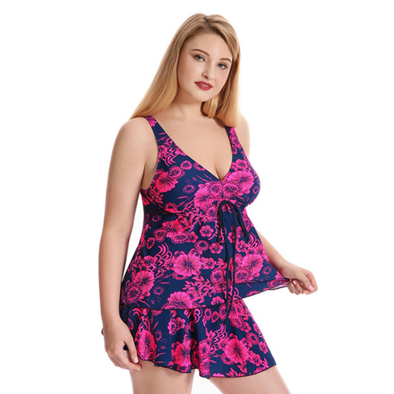 Plus Size One Piece Swimsuit Skirt 2017 Push Up Swimwear Women Dress Bathing Suit Large Size Product For Plus Size Ladies ms shang new plus size women summer dress one piece swimsuit swimwear push up skirt bathing suit large size swimsuits beachwear
