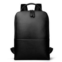 Man Woman Backpack Genuine Leather Large Capacity Fashion Computer Bags Softback Male Business Travel Female Bolsa Teenager Gift