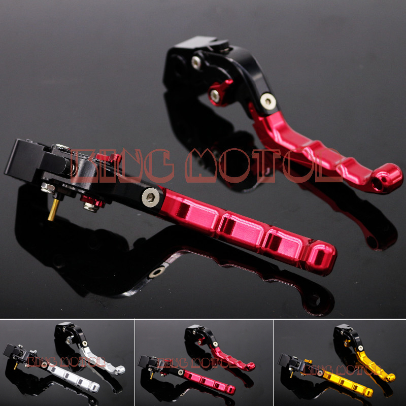 ФОТО For DUCATI Monster 821 Motorcycle Accessories CNC Billet Aluminum Adjustable Folding Brake Clutch Levers Red